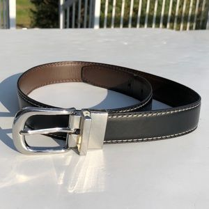 Wrangler bonded leather reversible belt